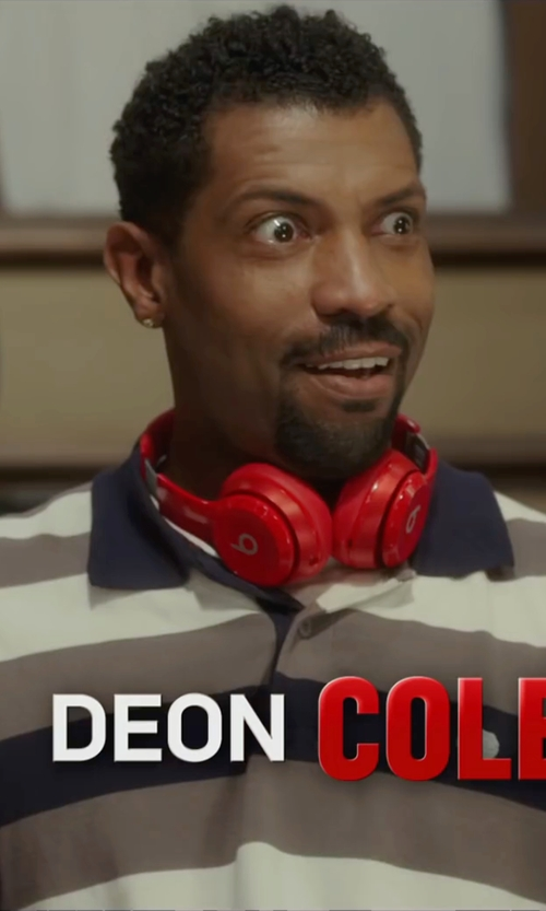 Deon Cole with Z Zegna Stripe Mercerized Cotton Polo Shirt in Barbershop: The Next Cut