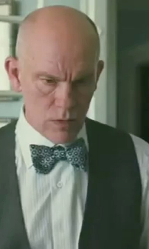John Malkovich with Eton of Sweden Contemporary-Fit Tonal Stripe Formal Dress Shirt in Burn After Reading