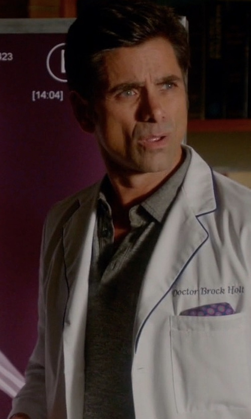 John Stamos with Rag & Bone Standard Issue Polo Shirt in Scream Queens