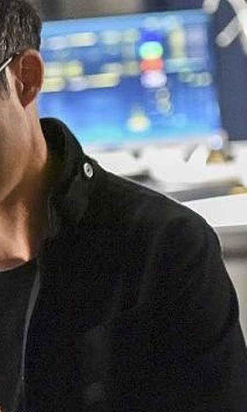 Tom Cavanagh with Cole Haan  Modern Twill Military Jacket in The Flash