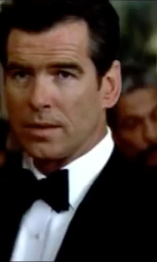 Pierce Brosnan with Gieves & Hawkes Peak-Lapel Single-Breasted Tuxedo Suit in The World is Not Enough