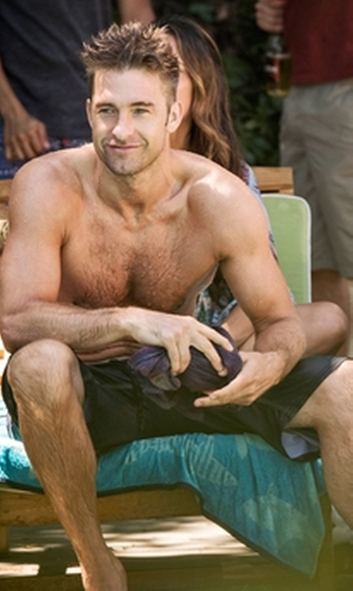 Scott Speedman with Quiksilver Waterman Rocky 4 Board Shorts in Animal Kingdom