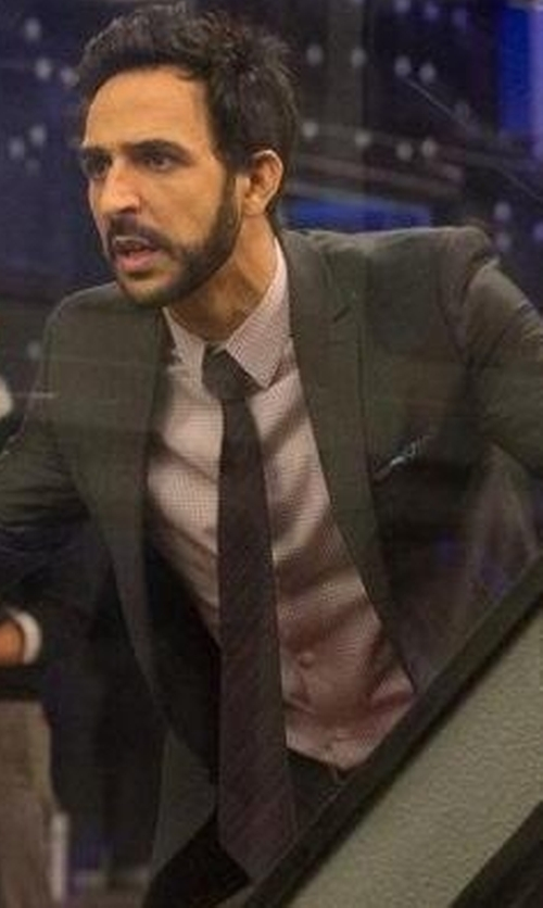Amir Arison with Paul Smith London Striped Silk- Twill Tie in The Blacklist