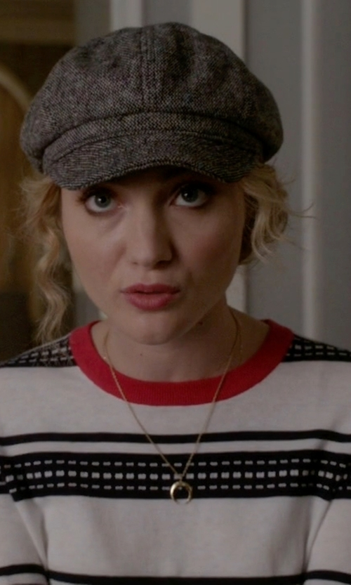 Skyler Samuels with Equipment Shane Crew Neck Sweater in Scream Queens