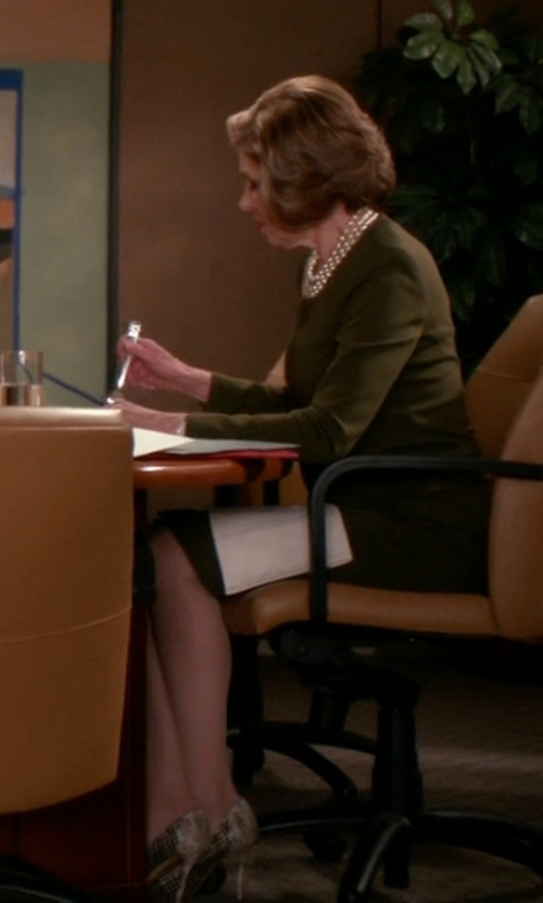 Christine Baranski with Stuart Weitzman Iris Pointed-Toe Pumps in The Good Wife