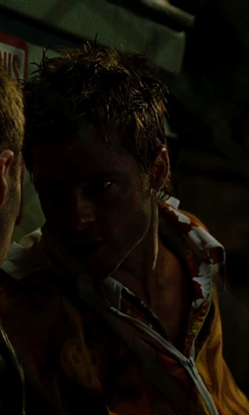 Brad Pitt with Old Navy Men's Camo-Print Hooded Jackets in Fight Club