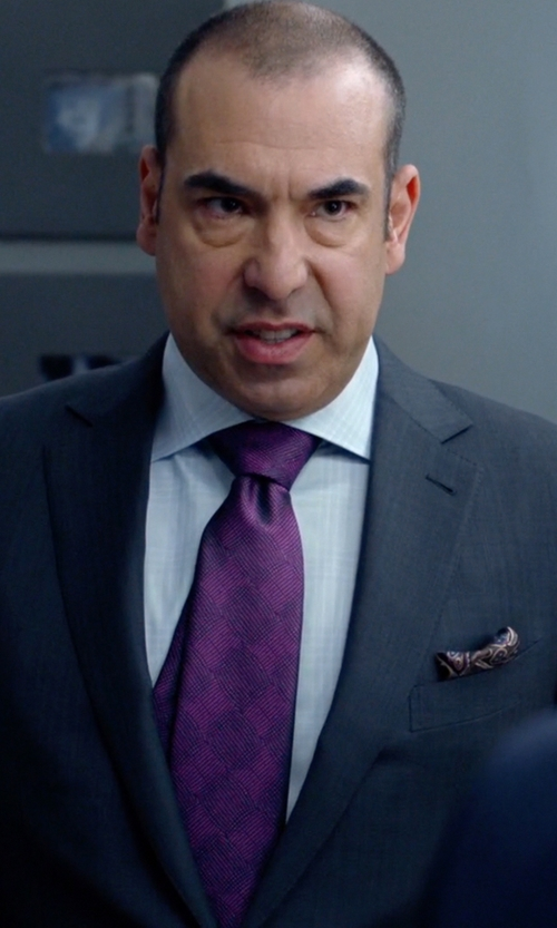 Rick Hoffman with Burberry Bright Beetroot Nova Check Print 'Rohan' Silk Blend Tie in Suits