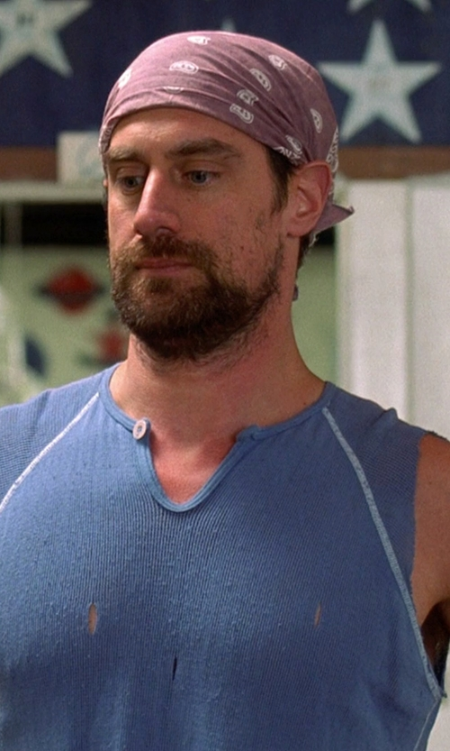 Christopher Meloni with Lucky Brand Split-Neck Slub T-Shirt in Wet Hot American Summer