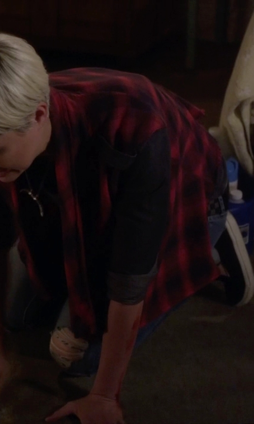 Dre Davis with Vans 'Classic' Perforated Slip-On Sneaker in Pretty Little Liars