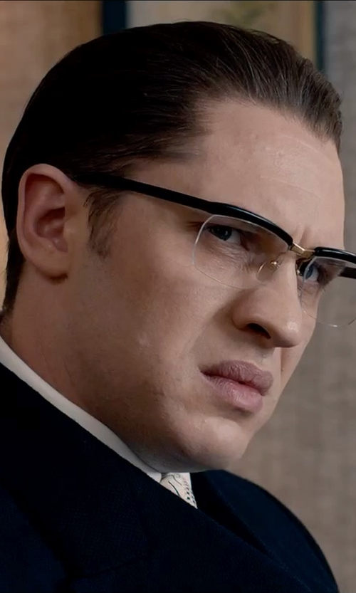 Tom Hardy with Tom Ford Shiny Metal Square Eyeglasses in Legend
