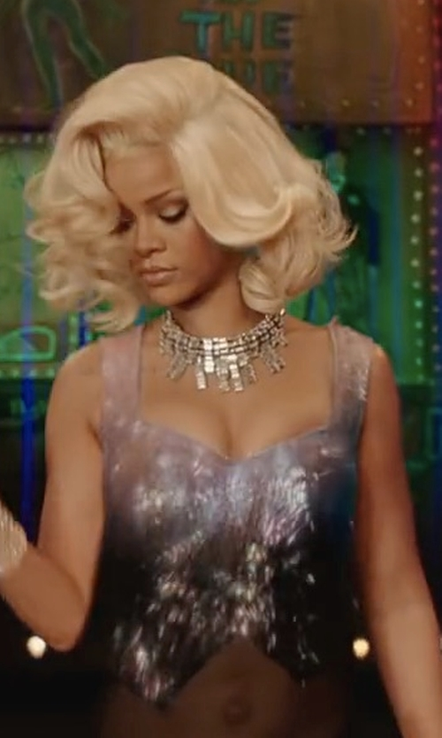 Rihanna with Frasier Sterling Jagger Choker Necklace in Valerian and the City of a Thousand Planets