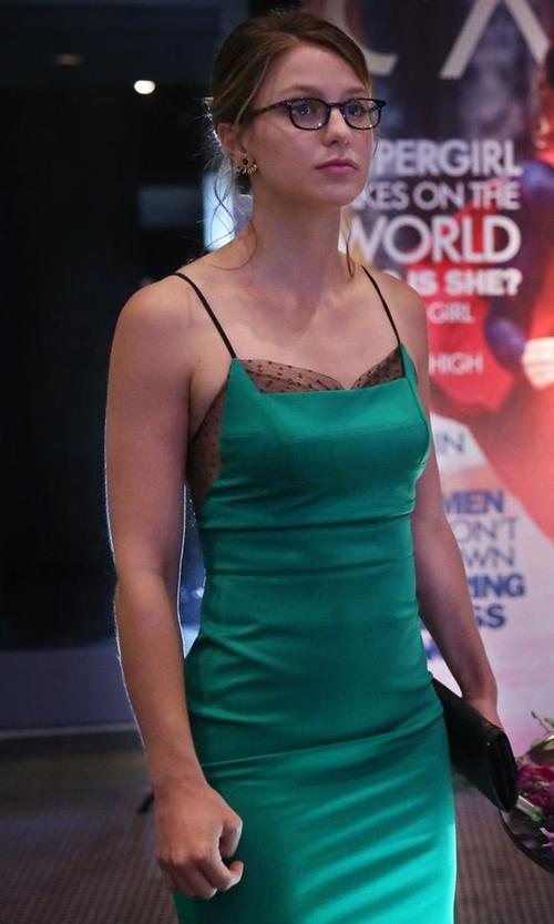 Melissa Benoist with L.A. Eyeworks Dap Frames in Tortoise Eyeglasses in Supergirl