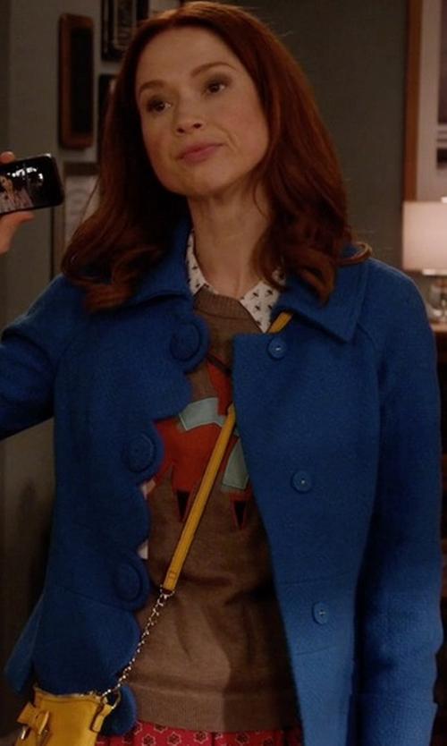 Ellie Kemper with Life Is Good Go-To Pullover Sweatshirt in Unbreakable Kimmy Schmidt