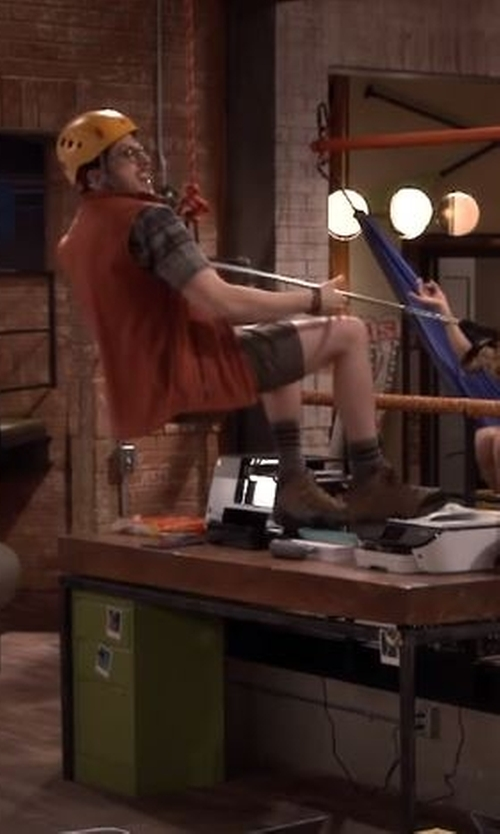 Christopher Mintz-Plasse with Propet  Blizzard Mid Lace Boots in The Great Indoors