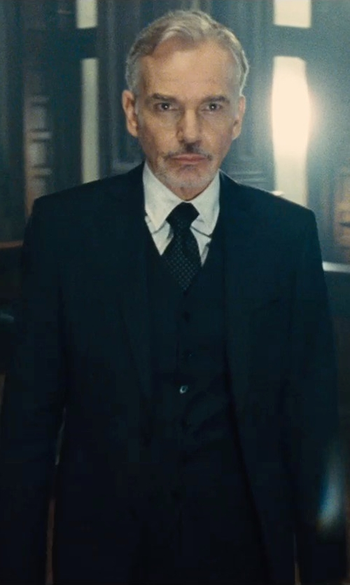 Billy Bob Thornton with Polo Ralph Lauren Solid Silk Tie in The Judge