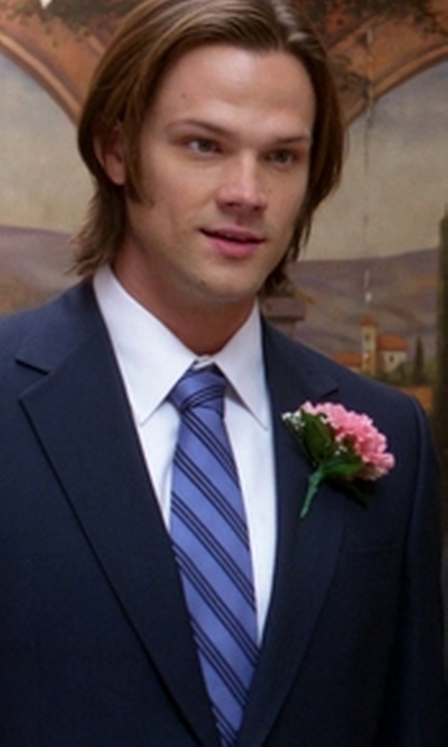 Jared Padalecki with Brooks Brothers Diagonal Stripe Tie in Supernatural