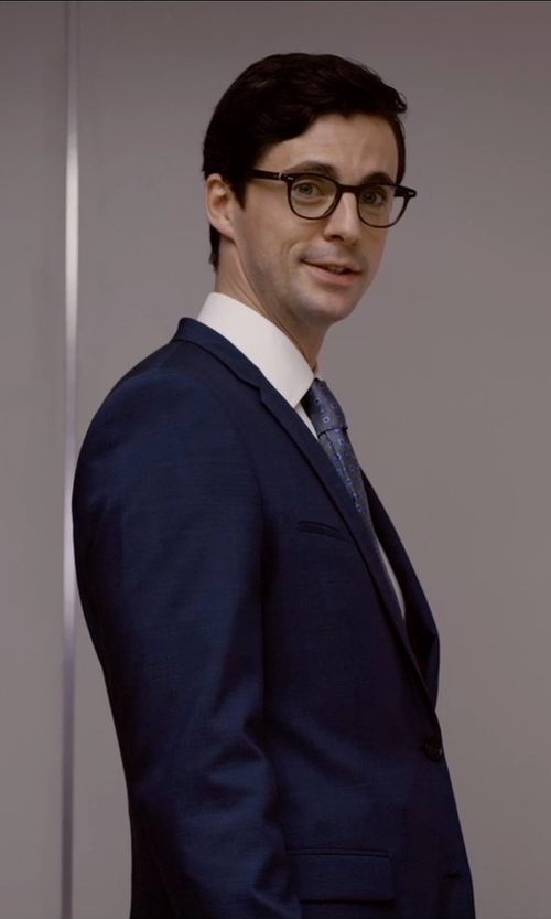 Matthew Goode with Brooks Brothers Milano Fit French Cuff Dress Shirt in Self/Less