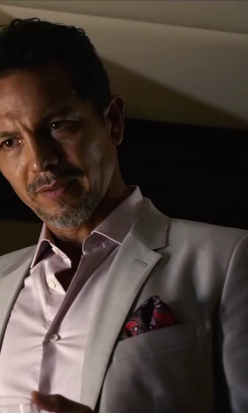 Benjamin Bratt with Robert Graham Julian Sharkskin Two Button Notch Lapel Jacket in Ride Along 2