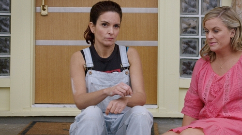Tina Fey with NSF Buddy Railstripe Overalls in Sisters