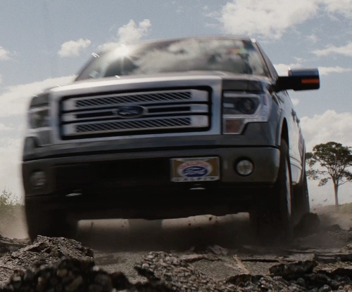 Dwayne Johnson with Ford F150 Pickup Truck in San Andreas
