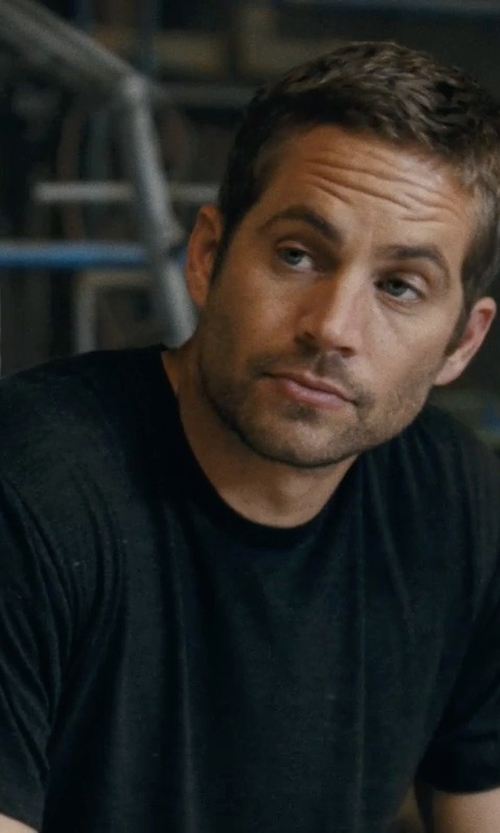 Paul Walker with Nudie Jeans Cotton-Jersey Crew Neck T-Shirt in Fast Five
