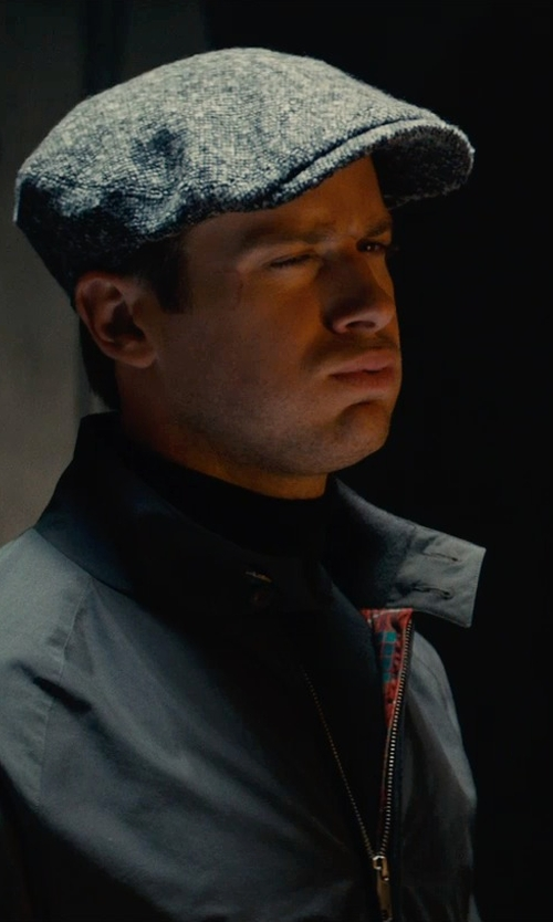 Armie Hammer with John Smedley Belvoir In Black Pullover in The Man from U.N.C.L.E.