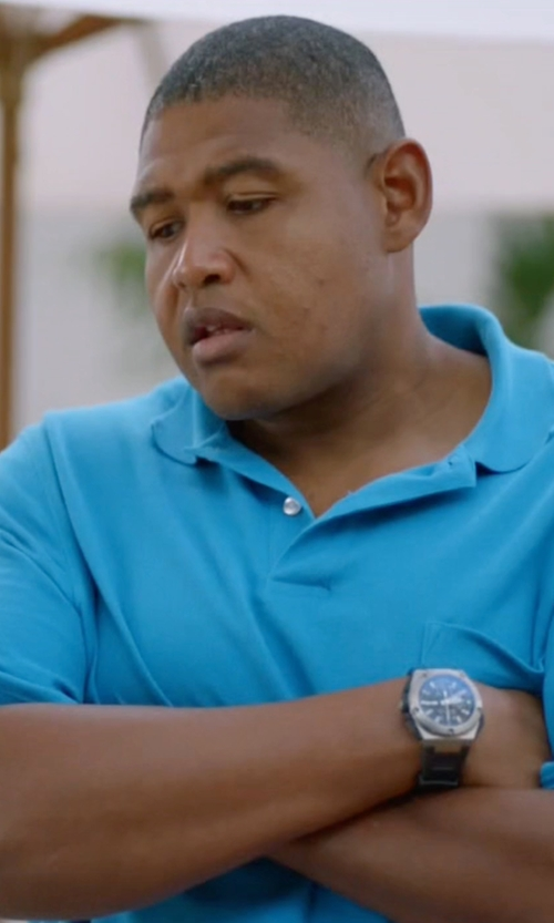 Omar Benson Miller with Victorinox Swiss Army 'I.N.O.X.' Rubber Strap Watch in Ballers