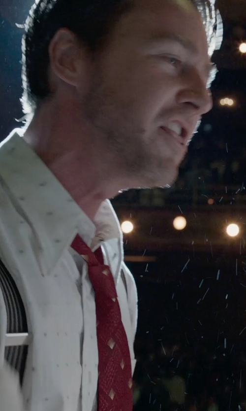 Edward Norton with Trafalgar Formal Ascot Stripe Suspenders in Birdman