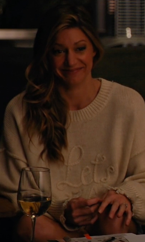 Jes Macallan with Wildfox Let's Stay Home Knit Sweater in Mistresses