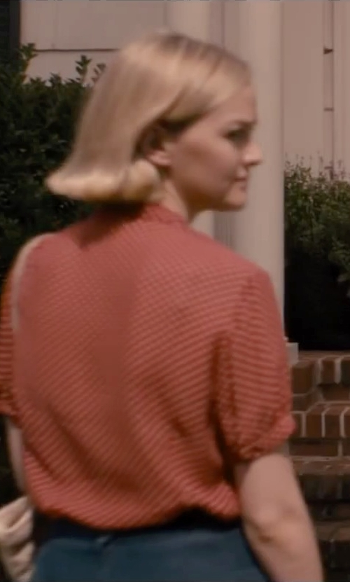 Jess Weixler with Jason Maxwell Red White Polka Dot Top Cami Blouse in The Disappearance of Eleanor Rigby