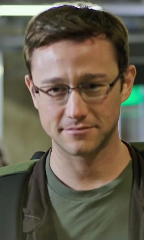 Joseph Gordon-Levitt with Ray Ban Matte Black Eyeglasses in Snowden