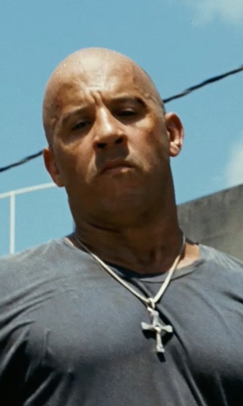 Vin Diesel with The Cable Classic Collection X Cross Necklace in Fast Five