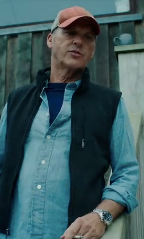 Michael Keaton with Michael Kors Caine Silver-Tone Watch in American Assassin
