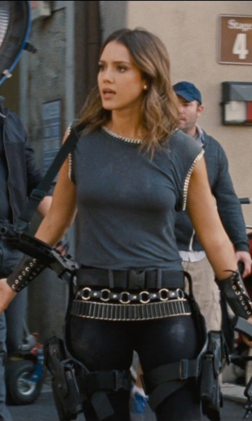 Jessica Alba with Armor Venue Faux Leather Arm Guards in Entourage