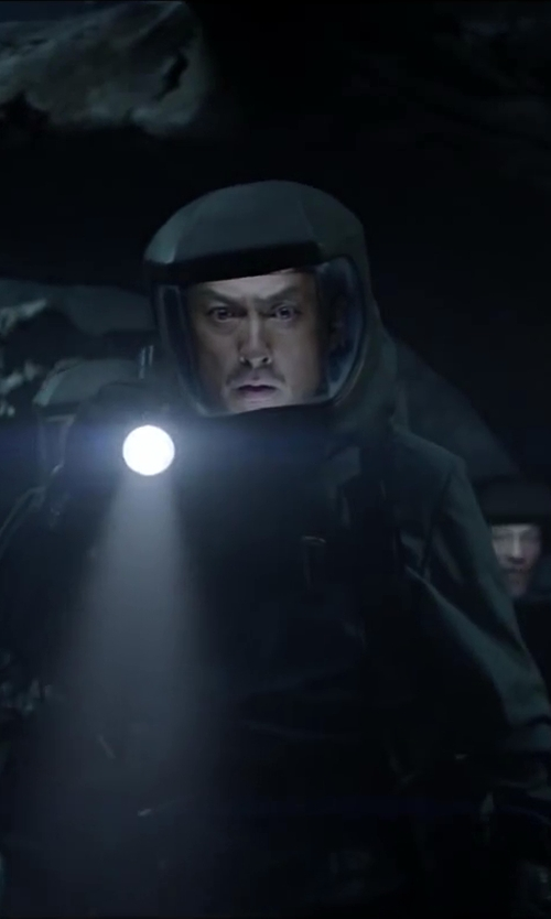 Ken Watanabe with Radiation Shield Technologies Demron Full Bodysuit - Biological Protection Suit in Godzilla