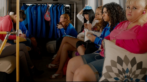Alexis Knapp with Born Wedge Sandals in Pitch Perfect 2