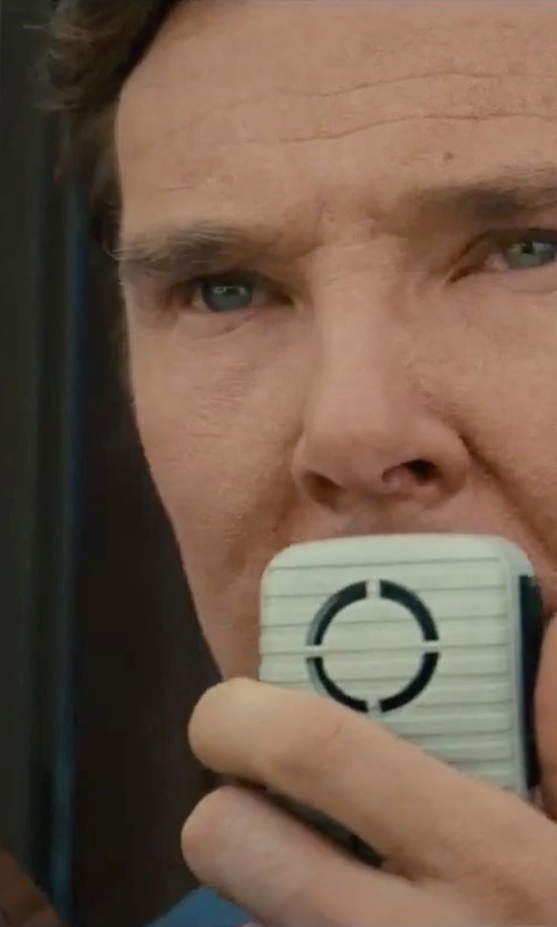 Benedict Cumberbatch with Western Safety 50 Watt Megaphone in Black Mass