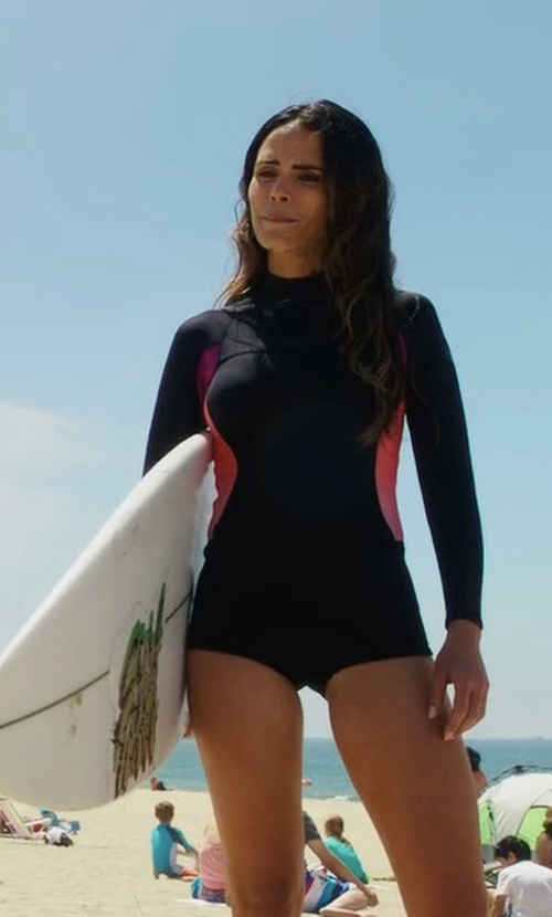 Jordana Brewster with Roxy Long Sleeve Springsuit in Lethal Weapon