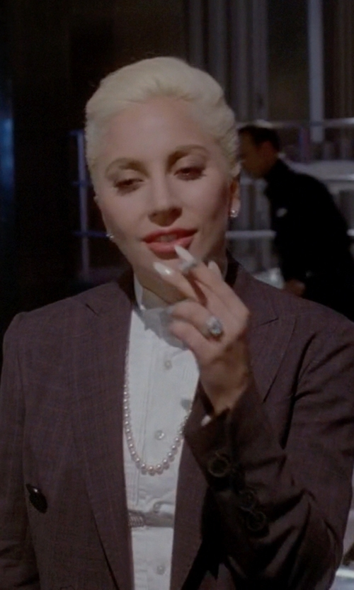 Lady Gaga with Dsquared2 Peak Lapel Blazer in American Horror Story