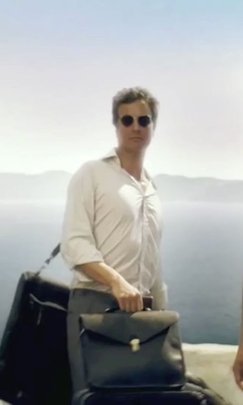 Colin Firth with Marc by Marc Jacobs Round Sunglasses in Mamma Mia!