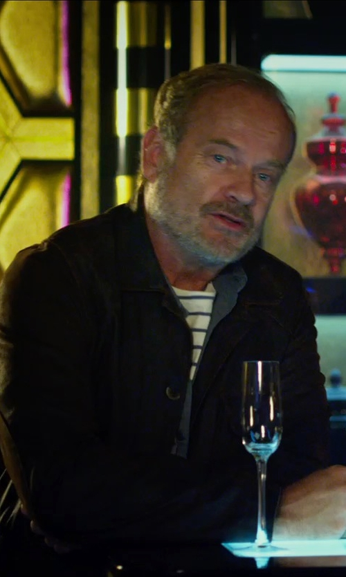 Kelsey Grammer with London Fog Bristol Microsuede Bib Wool-Blend Car Coat in The Expendables 3