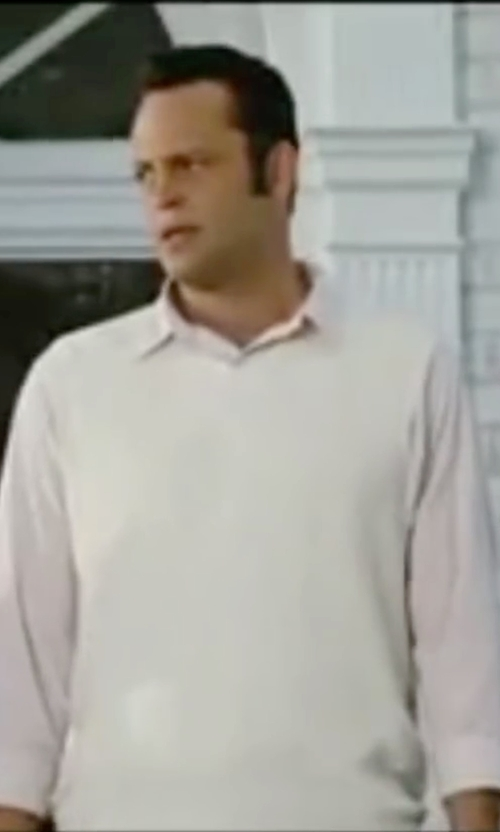 Vince Vaughn with Glenmuir Lambswool Golf Slipover Vest in Wedding Crashers