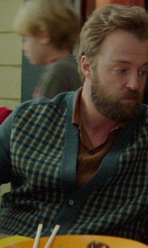 Joshua Leonard with Brooks Brothers Fair Isle Cardigan in If I Stay