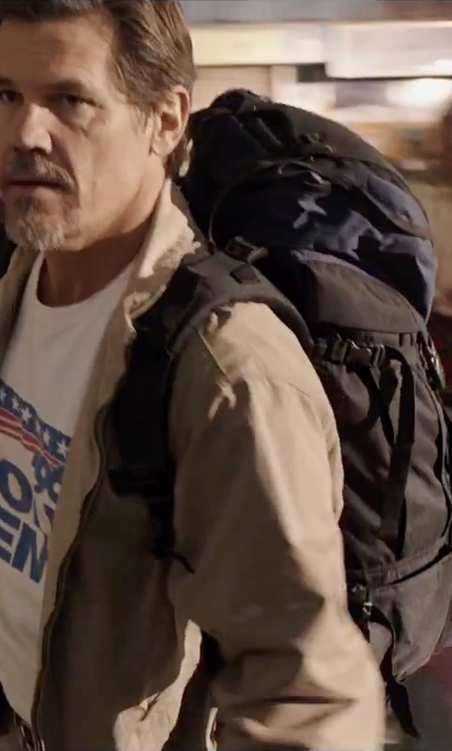 Josh Brolin with The North Face Terra 45 Backpack in Everest