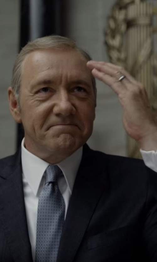 Kevin Spacey with Paul Smith London Two Piece Suit in House of Cards