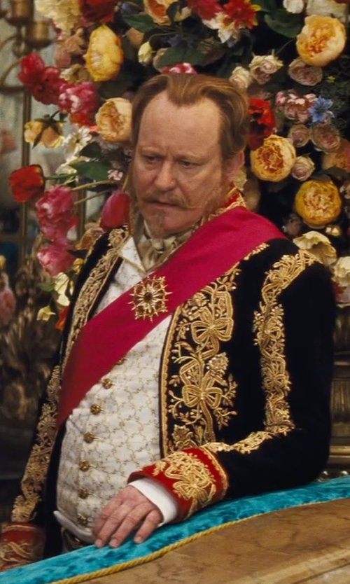 Stellan Skarsgård with Sandy Powell (Costume Designer) Custom Made 18th Century Duke Costume (Grand Duke) in Cinderella