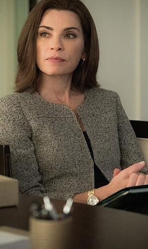 Julianna Margulies with Lafayette 148 New York 'Irene' Tweed Jacket in The Good Wife