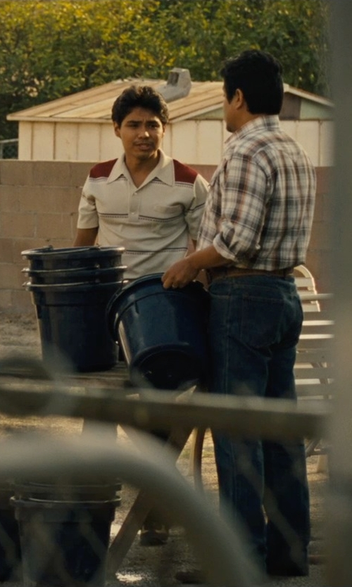 Rafael Martinez with Nautica Men's Multi Stripe Polo Shirt in McFarland, USA