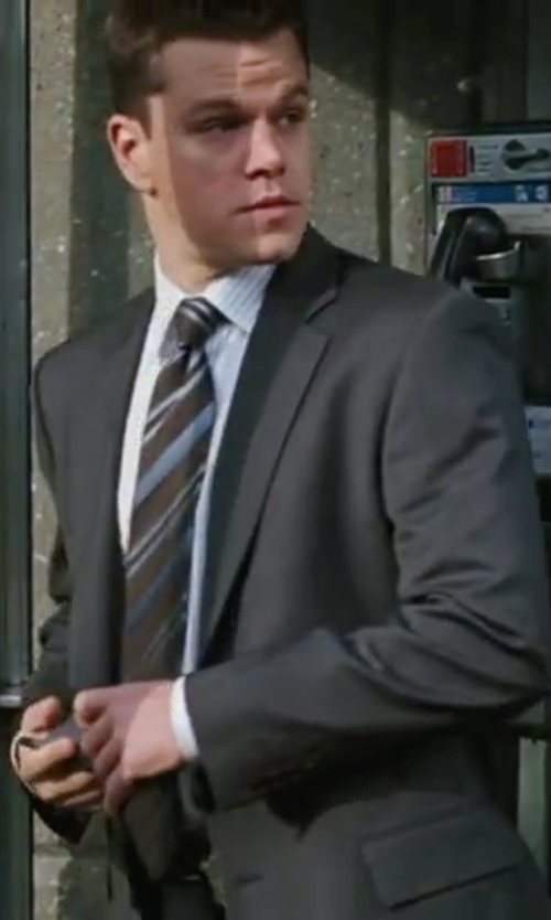 Matt Damon with Richard James Two-Piece Suit in The Departed