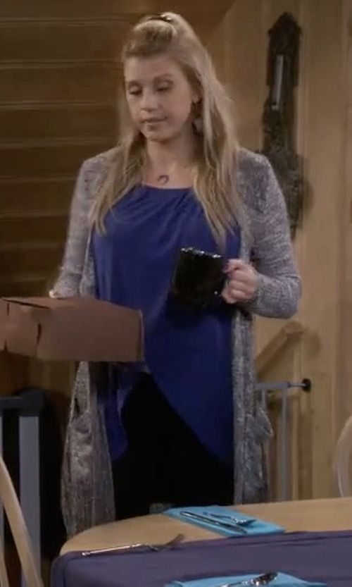 Jodie Sweetin with C&C California Emma Cardigan in Fuller House